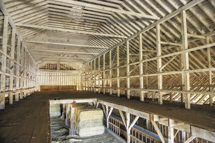 The Laughlin Dairy barn, before it was dismantled to be used in the construction of the tasting room, measured 22,000 square feet.