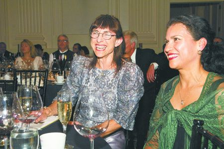 Ronni Lacroute (left), co-owner of WillaKenzie Estate, made the $500,000 lead gift to establish the Leda Garside Endowment Fund in honor of Garside (right) who has been integral to ¡Salud!'s success. 2007
