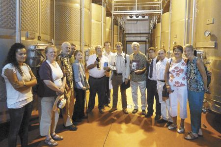 Eight people from Roseburg toured the teaching winery at San Gabriel school in Aranda de Duero in Spain to discuss a student-exchange program