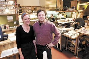 Cassie and Dave  VanDomelen, owners of The Blue Goat .