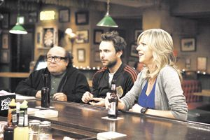 Danny DeVito, Charlie Day and Katlin Olson on the Season 6 premiere of
