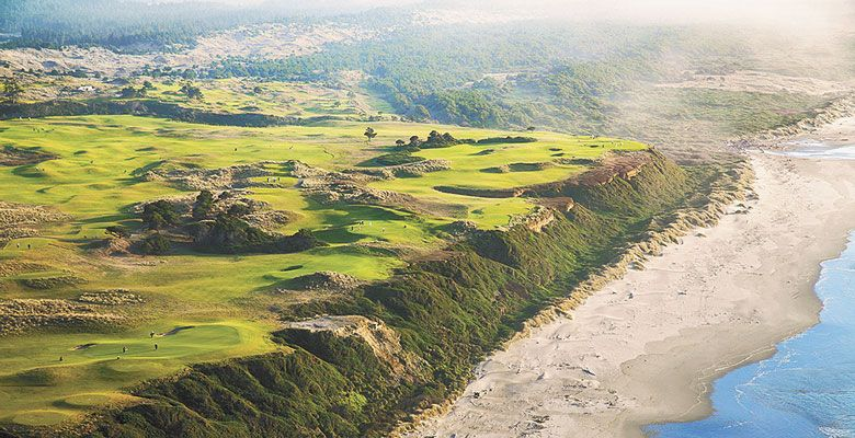 Bandon Dunes Golf Resort is a complex of four links and a par-three golf course, located just north of the city of Bandon on the Southern Oregon Coast. ##Photo provided