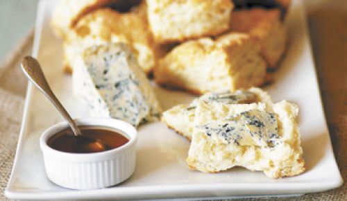 Cheese biscuits with Honey and Blue.
