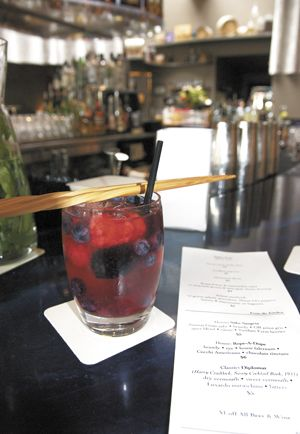 Saké Sangria featuring Pinot Gris. Photo by Mark Stock.