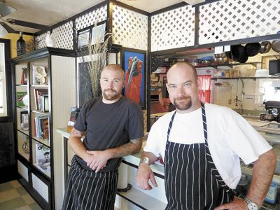 Chefs Mike Hite and Paul Becking of C Street Bistro in Jacksonville. Photo by Janet Eastman.