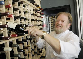 Bill King, executive chef/owner of Pinot American Brasserie in downtown Portland, has created an impressive Oregon Pinot Noir list.  Photo by Rick Schafer.
