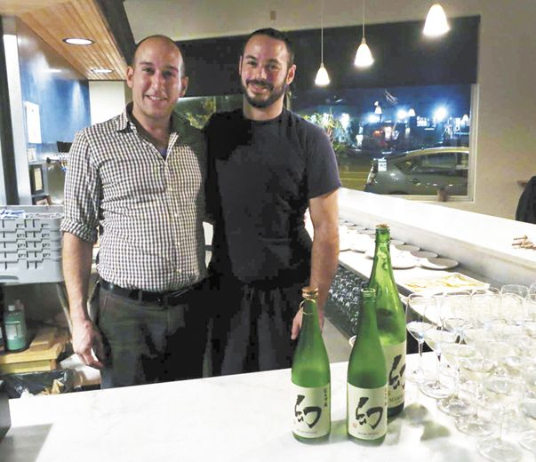 Biwa restaurant's chef/owner Gabe Rosen (left) and chef de cuisine Jon Moch.