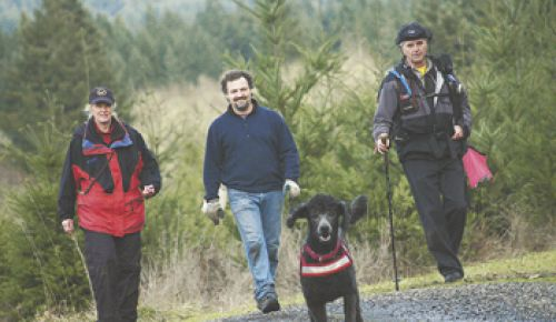 Tucker, a Standard Poodle, is directed by certified K-9 trainers Deborah and David
