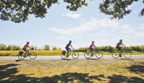 Cycling offers tourists visiting Oregon an outdoor adventure on wheels. ##Photo courtesy of Travel Oregon/Photo by Russ Roca