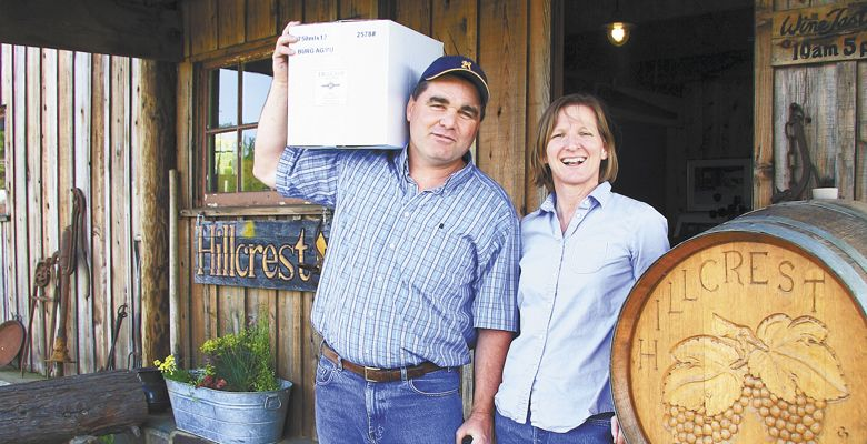Dyson and Susan DeMara bought HillCrest Vineyard in 2003. ##Photo courtesy of HillCrest Vineyard