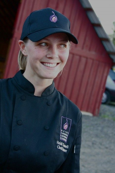 The young and talented Heidi Tunnell works with local farmers when sourcing ingredients.  Photo provided.