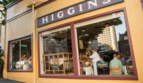 Customers enjoy dinner at Higgins Restaurant in downtown Portland. ##Photo by John Valls