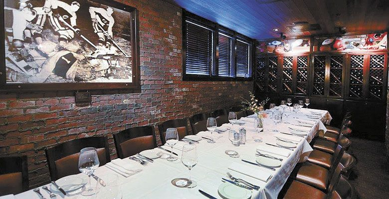 The Wine Room offers a semi-private space for special gatherings at the classic Portland steakhouse. ##Photo provided