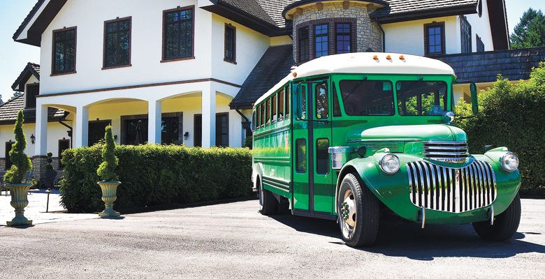 The Vintage Tour Bus Co. at Beacon Hill outside Gaston. ##Photo courtesy of The Vintage Tour Bus Co.