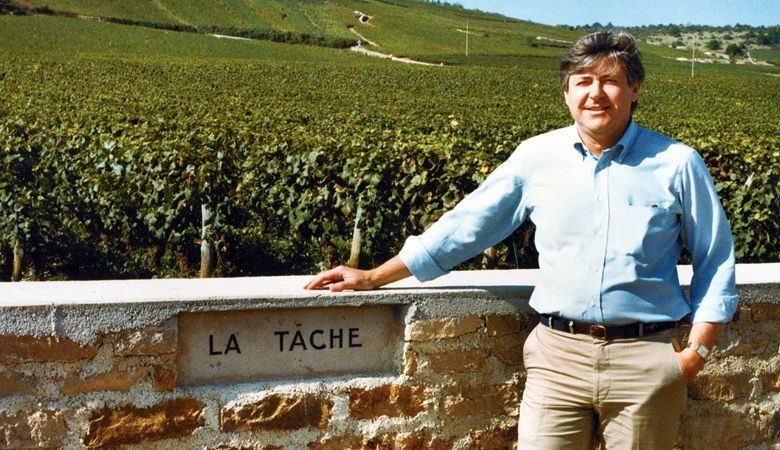 In 1983, Ken Evenstad visits La Tâche, a grand cru vineyard in the village of Vosne-Romanée, at the heart of Burgundy's Côte de Nuits. ##Photo courtesy of Domaine Serene