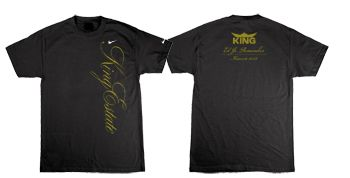 6. Front: King Estate; Back: King, Ed Jr. Remember, Harvest 2012. T-shirts shown are representations. Check with winery for actual shirt style and color.