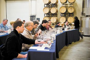 Guests compare six flights from Adelsheim vintages
