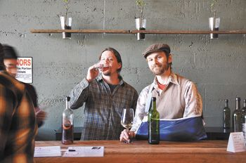 Chris Wishart (left) and Ryan Sharp recently opened ENSO Winery & Tasting Lounge in Portland. Photo by Devon Duncan.