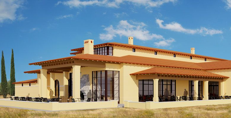 A rendering shows what Domaine Serene's Clubhouse will look like. ##Photo Provided