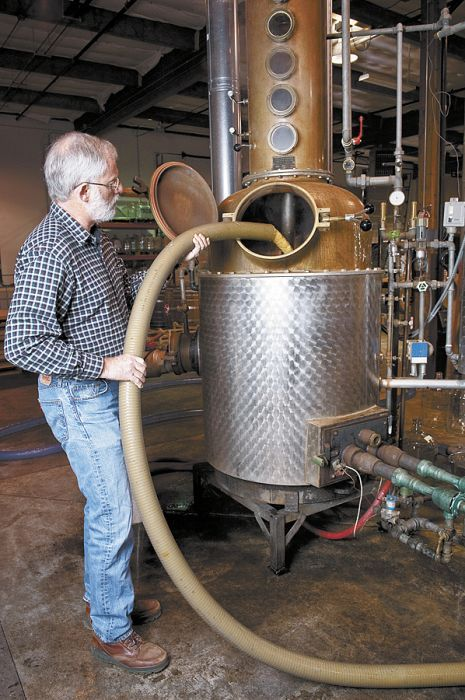 Steve McCarthy started Clear Creek Distillery 28 years ago. The Portland outfit produces eau de vie and grappa. Photo by Andrea Johnson.