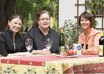 (From left) Chanda Miller, Helena Darling and Liz Jones are creating an online wine service education