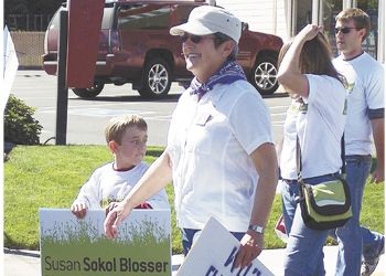 Susan Sokol Blosser marches in the Dayton