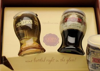 "Copa di Vino uses 6.3-ounce plastic ""glasses"" instead of bottles. The product won silver at this year's DuPont Awards for Packaging Innovation. Photo provided."