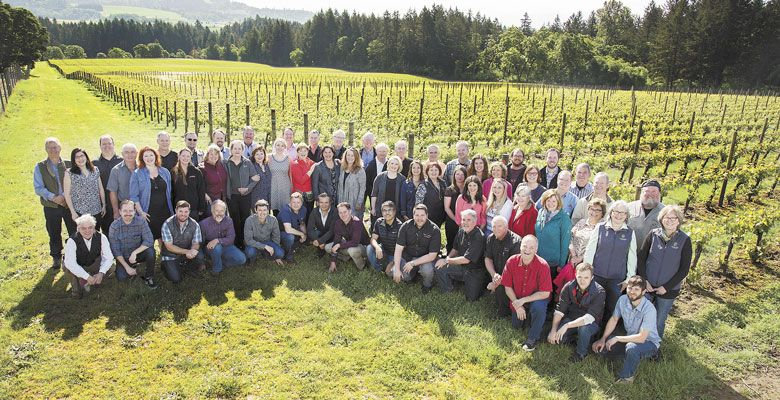 Yamhill-Carlton AVA members at Anne Amie Vineyards. ##Photo by RJ Studios.