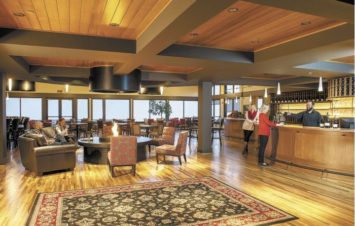 Willamette Valley Vineyards' new tasting room features three tasting bars, including a chef's bar with daily wood-fired offerings and more.