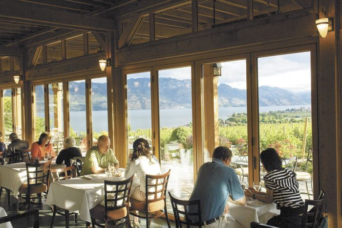 Old Vines Restaurant at Quails' Gate Estate Winery in Central Okanagan, BC.