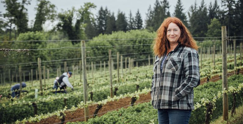 Jessica Cortell, Vitis Terra Vineyard Services. ##Photo by Kathryn Elsesser