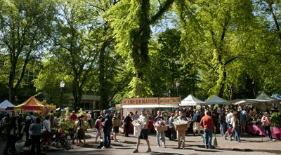 Portland Farmers Market at Portland State University is one of the biggest and best in the state.  Photo by Andrea Johnson.
