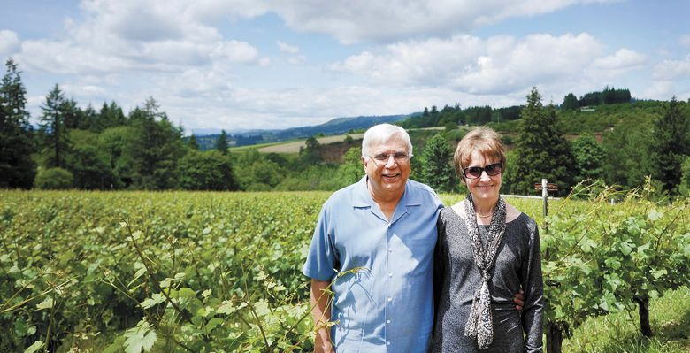 Owners Saj and Pauline Jivanjee of Archer Vineyard. ##Photo provided