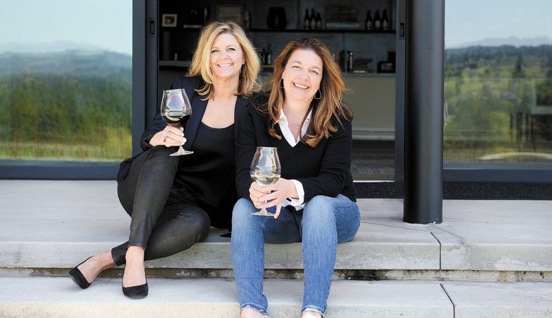 Anna Maria (left) and Luisa Ponzi at the tasting room/winery outside Sherwood. ##Photo provided