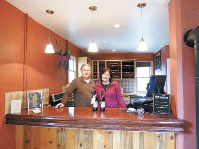 The Ellises offer a variety of wines at the tasting room in Medford.