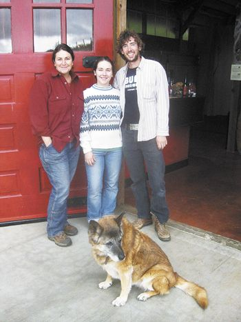 Rachael Horn, winemaker at AniChe Cellars, her daughter, Anais Mera, and