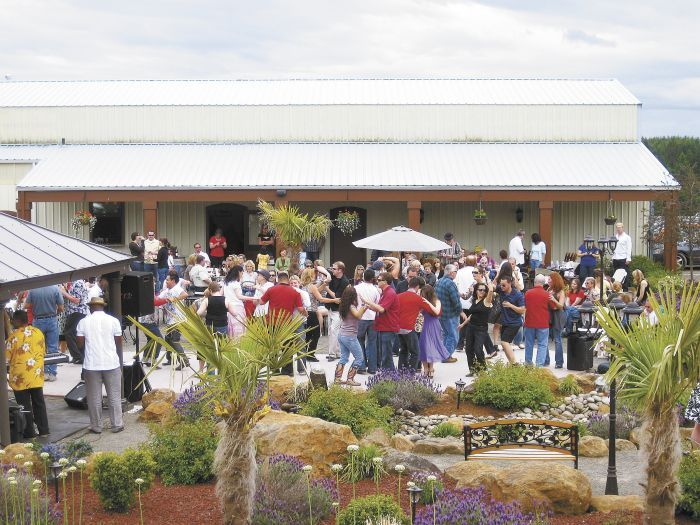 The Cubanísimo Vineyards tasting room and event facility in Salem hosts numerous functions each year, including weddings, anniversaries and monthly salsa dance parties. Photo provided.