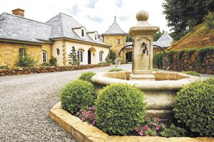 Coming into the courtyard of Domaine Margelle in the Cascade foothills east of Salem is like being magically transported to the French wine country.