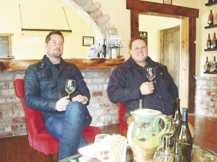 Owner Robert Stryk (left)and winemaker Thomas Shook. Photo by Jade Helm.