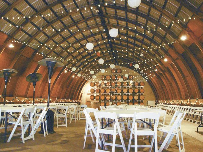 Pyrenees' barrel room was finished by Dietz. Photo by Jade Helm.