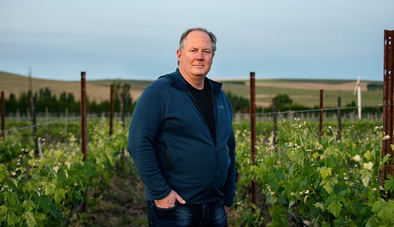 Mike Martin, owner of The Walls Vineyards in The Rocks District of Milton-Freewater. ##Photo by Kathryn Elsesser