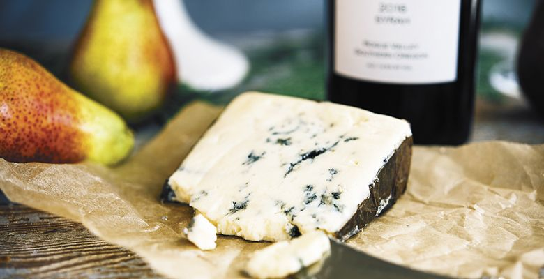 Rogue Creamery Rogue River Blue cheese. ##Photo by Kathryn Elsesser