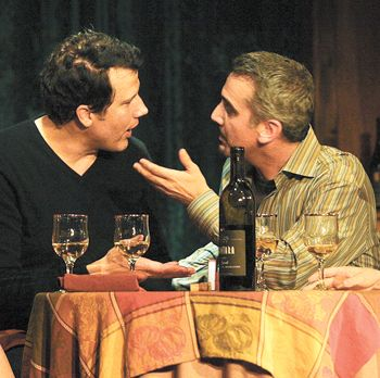 "From left, John Colella and Jonathan Bray in ""Sideways: The Play"" at the Ruskin Group Theatre in Los Angeles."