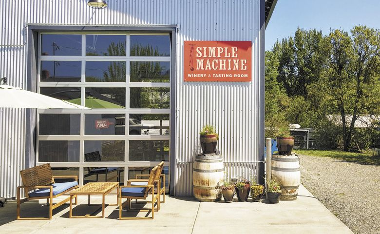 Simple Machine tasting room in Talent, Oregon. ##Photo by Michael Alberty