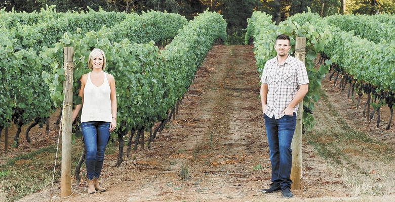 Marie and Tom Kokkeler of Five Fourteen Vineyards. ##Photo provided