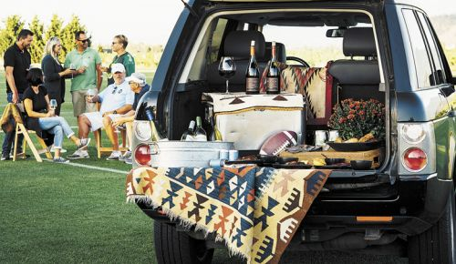 Tailgaters gather for a feast