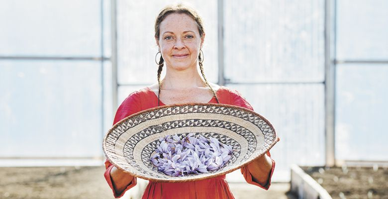 Tanya Golden of Golden Saffron Co. ##Photo by Kathryn Elsesser