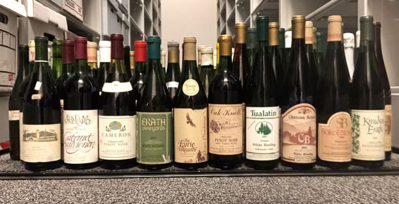 The 10 cases of wine were donated to Linfield College's Oregon Wine Archive. ##Photo by Kerry McDaniel Boenisch
