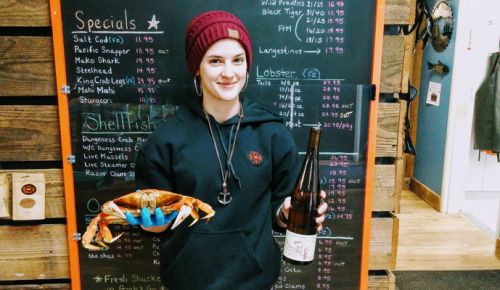 Amanda Kitz, fishmonger at Northwest Fresh Seafood in Newberg, pairs the Crab Tomalley with Oregon Dungeness crab, of course. ##Photo by Michael Alberty