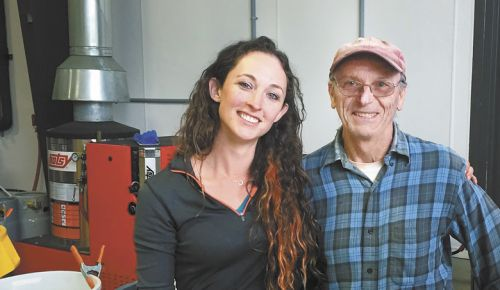 Longtime winegrower Bruce Weber and winemaker Meredith Bell of Statera Cellars. ##Photo Provided